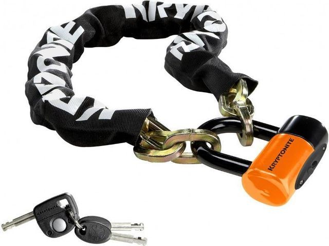 KRYPTONITE New York chain with series 4 disc lock 3 ft 3 in (100 cm) click to zoom image