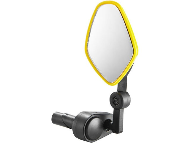 M-PART Commute mirror internal bar-end clamp fluoro yellow click to zoom image