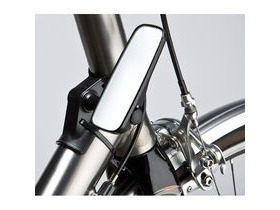 M-PART Adjustable mirror for head tube fitment, narrow, black