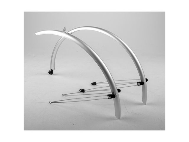 M-PART Commute full length mudguards 24 x 60mm silver click to zoom image