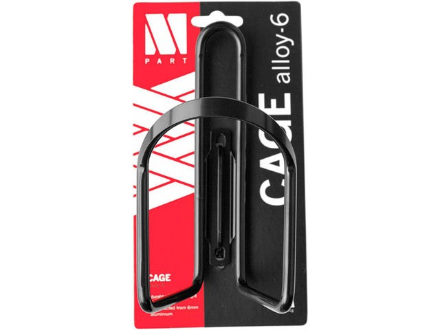 M-PART Bottle cage Alloy 6 mm aluminium black click to zoom image