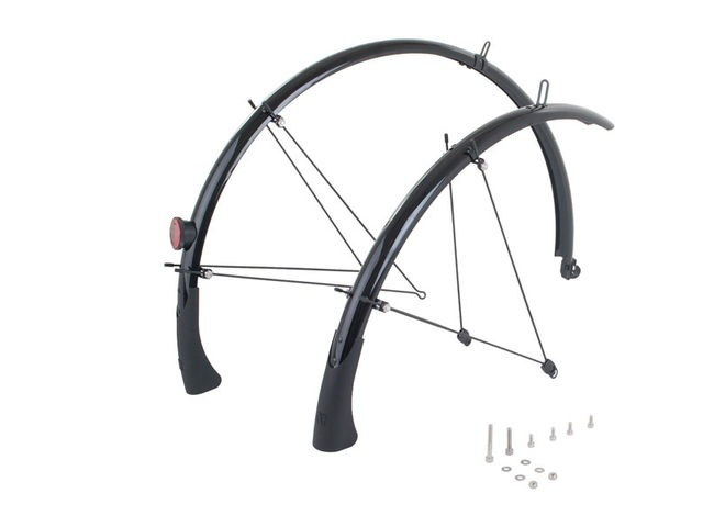 M-PART Primo full length mudguards 700 x 38mm black click to zoom image
